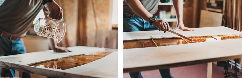 epoxy tisch anleitung