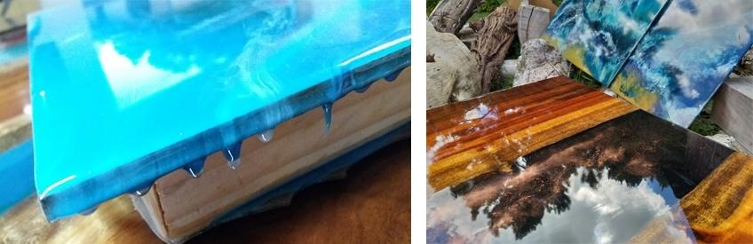 résine epoxy bois