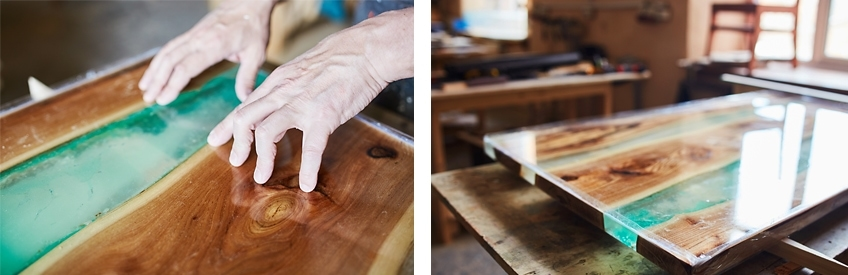table en resine epoxy
