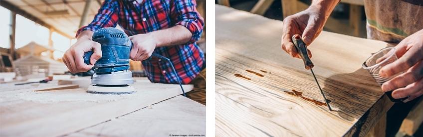 table epoxy bois
