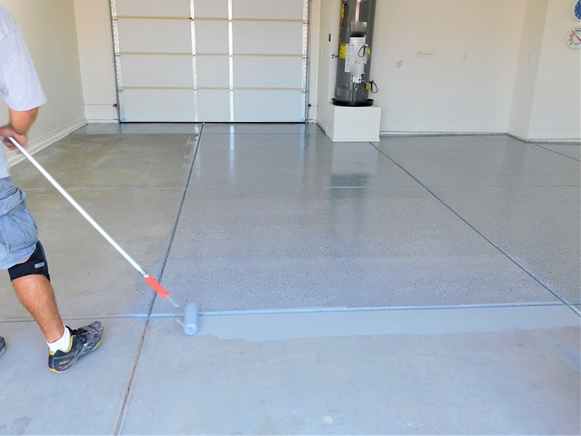 Floor Painting Shoes Up, How Much Do It Cost To Paint A Garage Floor
