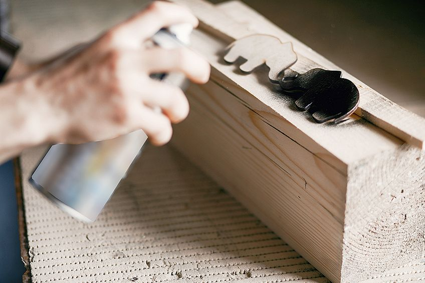 How to Spray Paint Wood