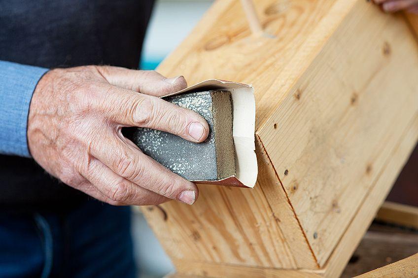 Sanding to Spray Paint Wood