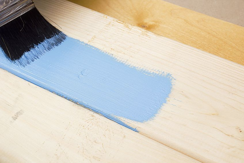Painting Plywood Colorful